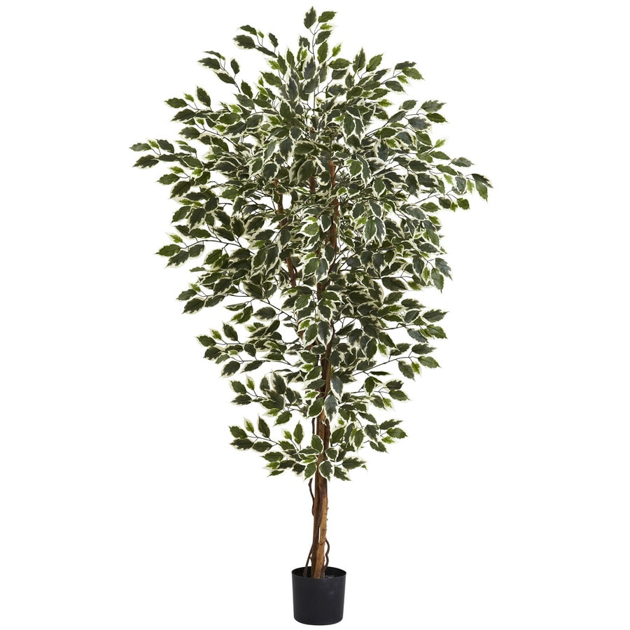 Nearly Natural 72-in White/Green Silk Tree