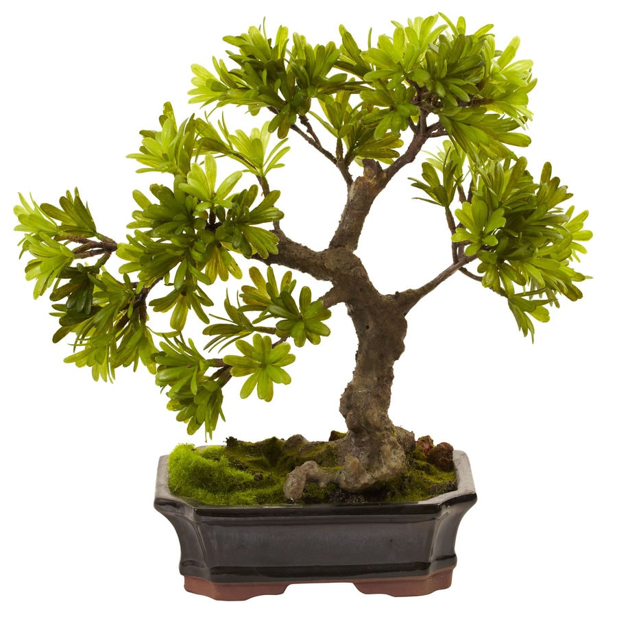 Nearly Natural 14-in Green Silk Tree
