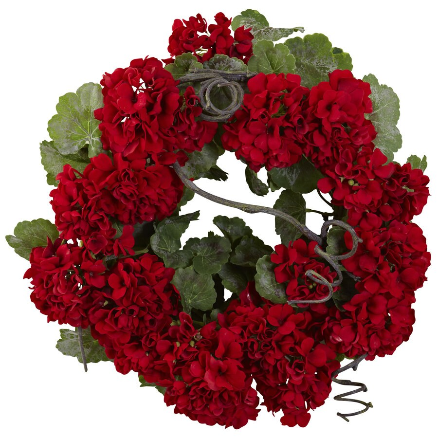 Nearly Natural 17-in Red/Green Wreath