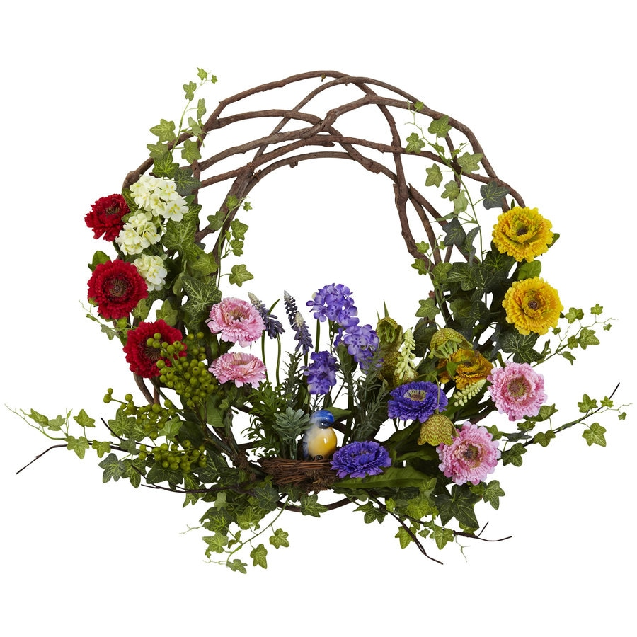 Nearly Natural 22-in Assorted Wreath