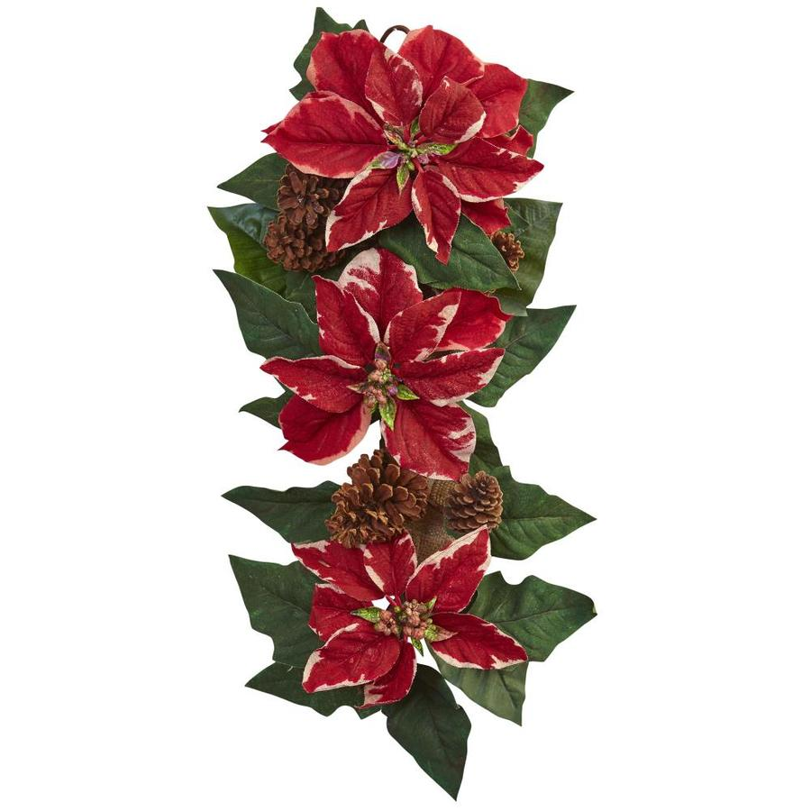 Nearly Natural 25-in Red Poinsettia