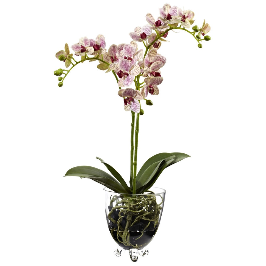 Nearly Natural 22-in Raspberry Orchid