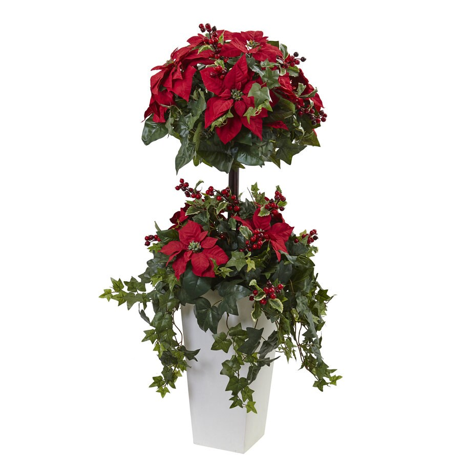 Nearly Natural 48-in Green Poinsettia