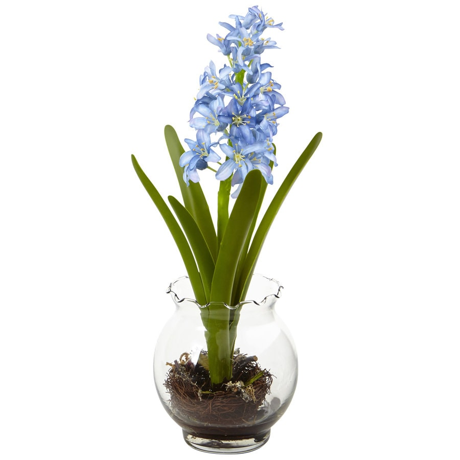 Nearly Natural 14-in Blue Hyacinth