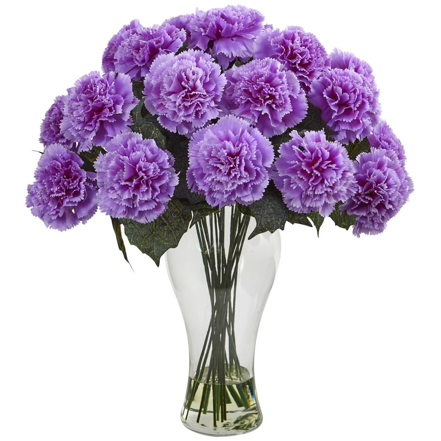 Nearly Natural 18-in Purple Carnation