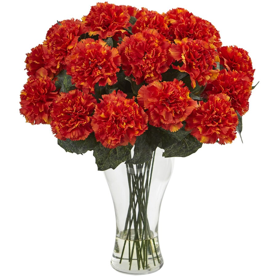 Nearly Natural 18-in Orange Carnation