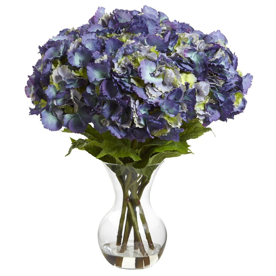 Nearly Natural 23-in Blue Hydrangea