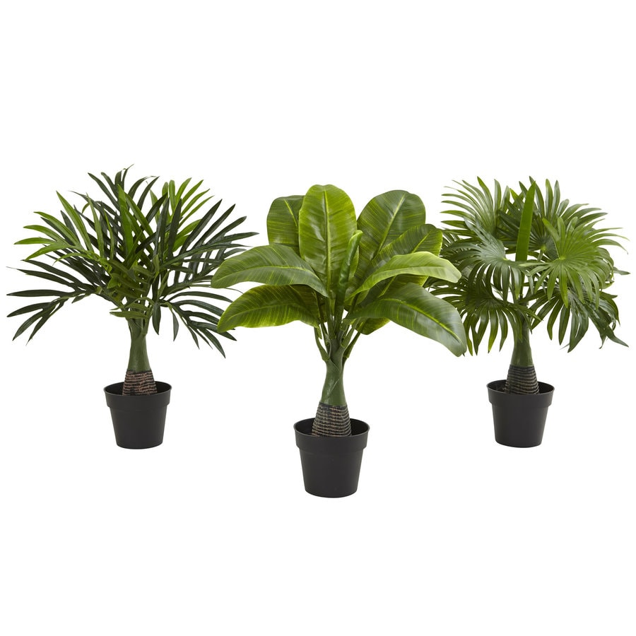 Nearly Natural 15.5-in Green Areca