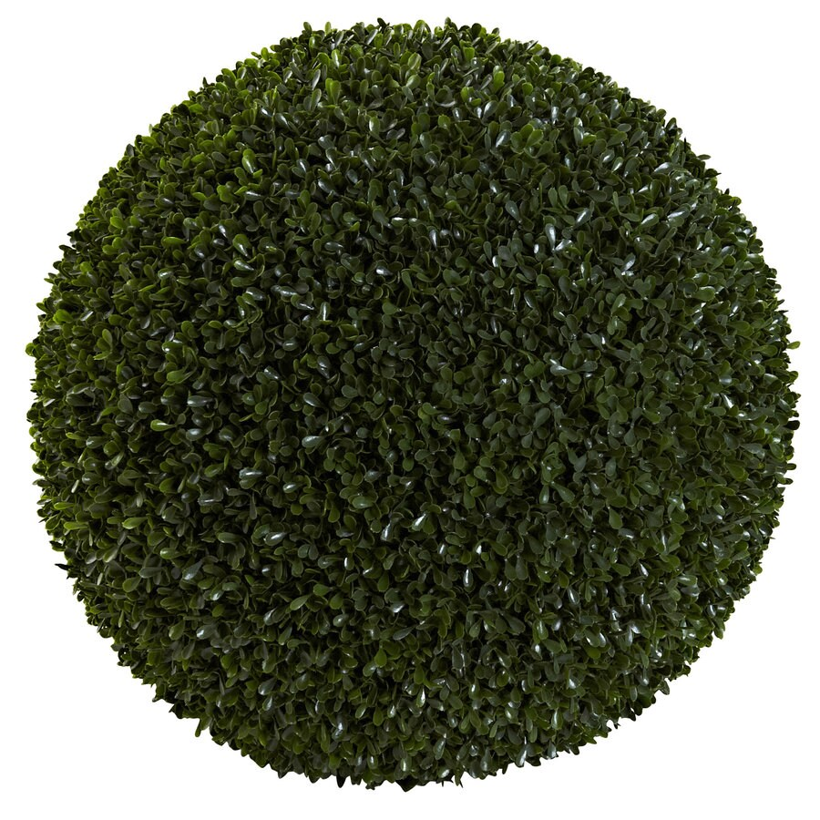 Nearly Natural 19-in Green Boxwood