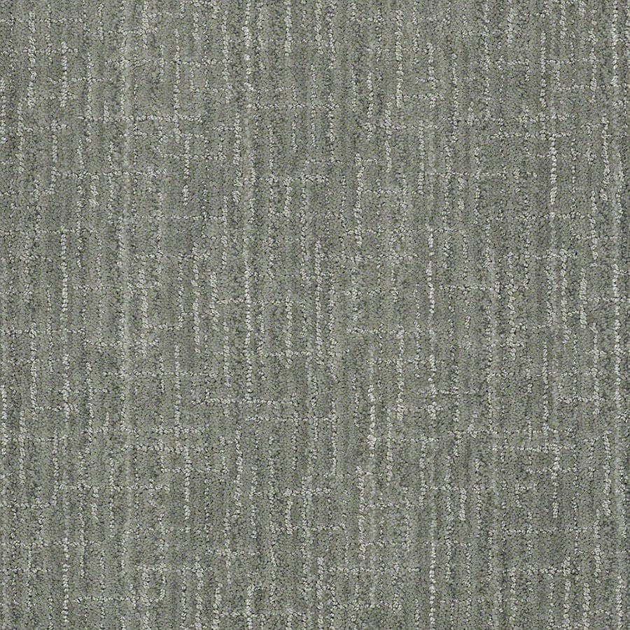 STAINMASTER Unquestionable Active Family Ocean Breaker Cut and Loop Carpet Sample