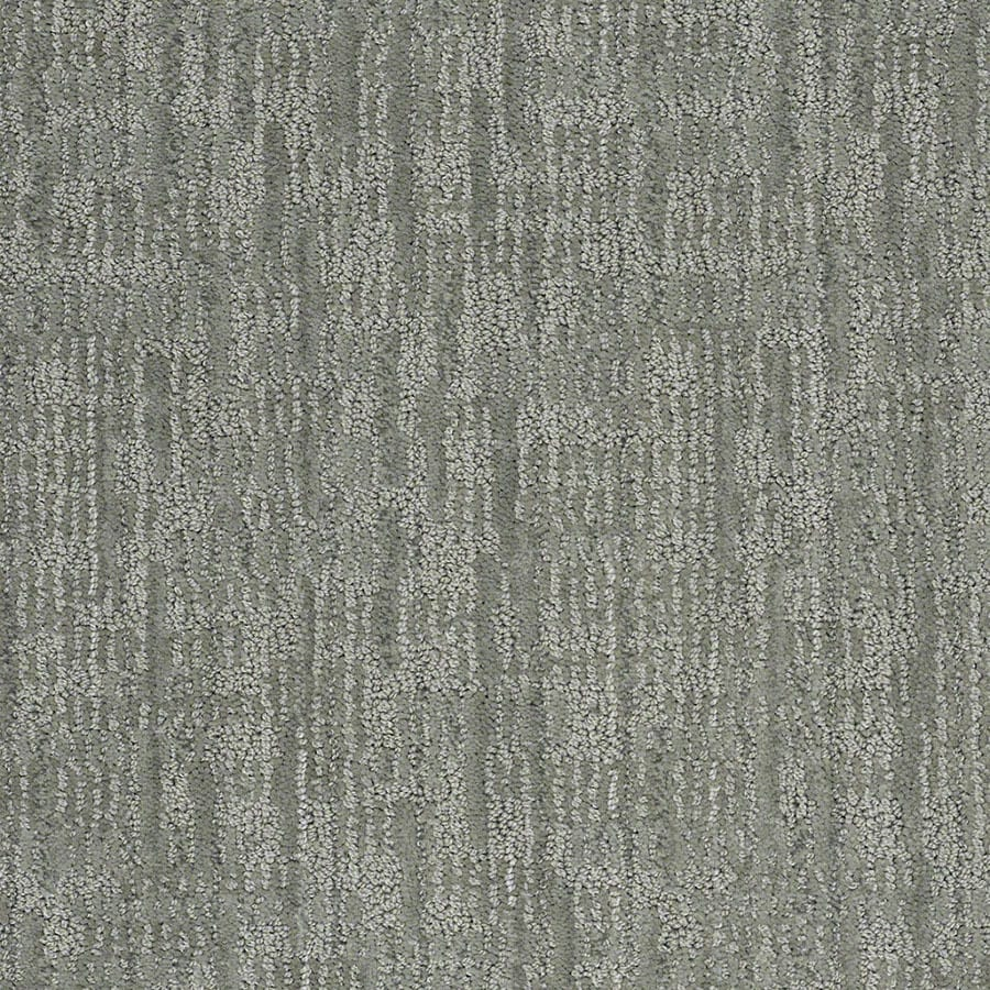 STAINMASTER Unmistakable Active Family Ocean Breaker Cut and Loop Carpet Sample