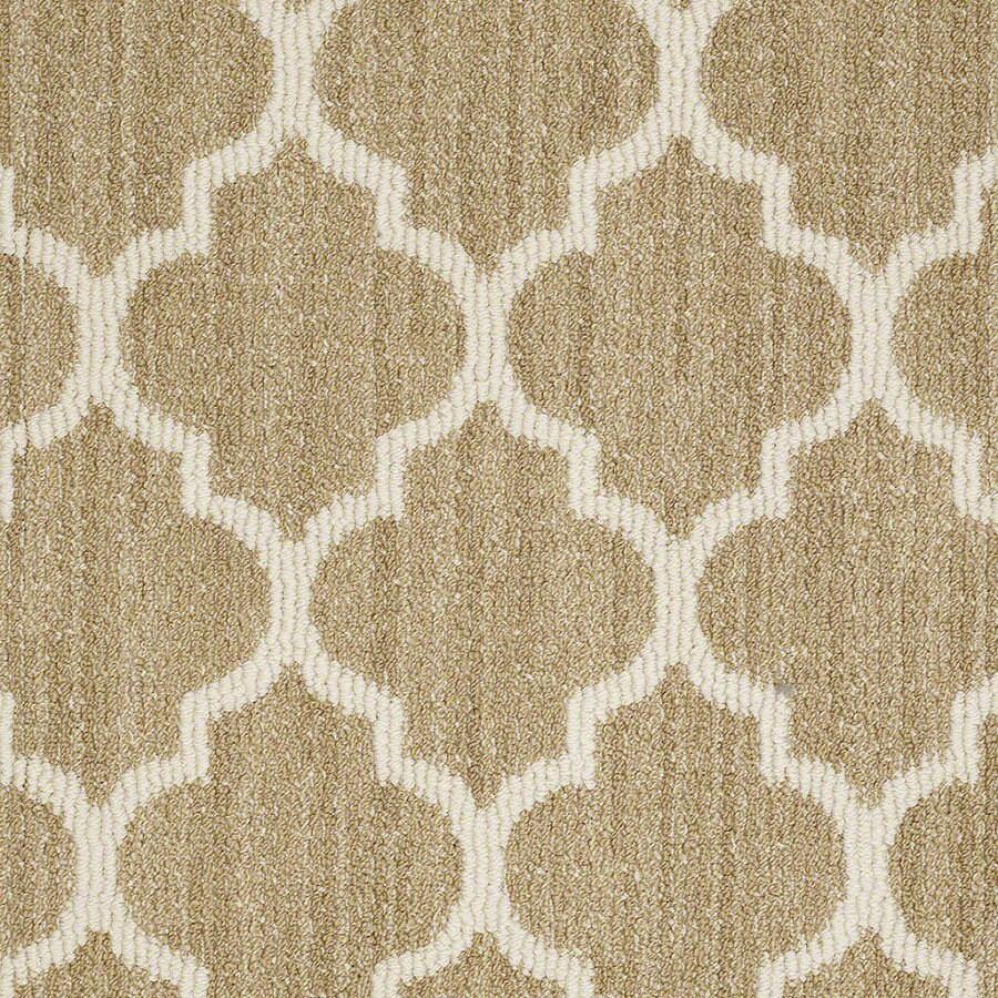 STAINMASTER Active Family Rave Review Desert Tan Carpet Sample