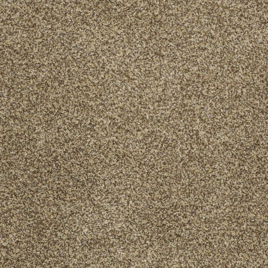 STAINMASTER TruSoft Private Oasis III Sahara Gold Plush Carpet Sample