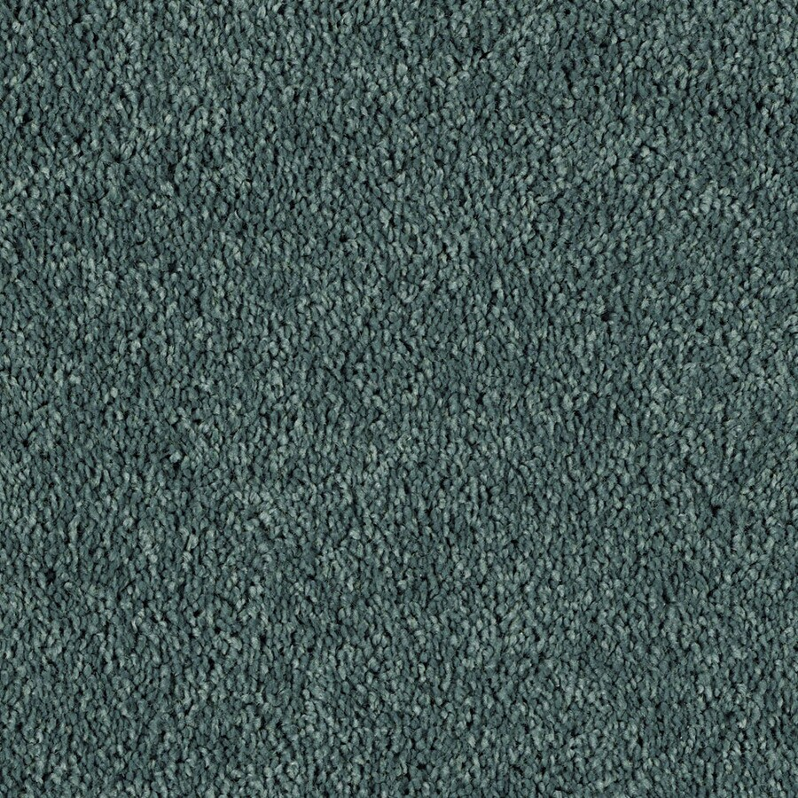 STAINMASTER Essentials Soft and Cozy I- S Timeless Teal Carpet Sample