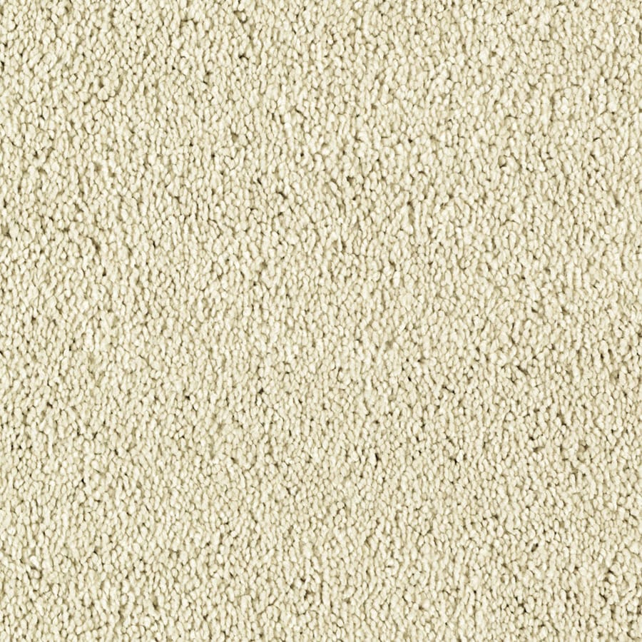 STAINMASTER Soft and Cozy III - S Essentials Ivory Tusk Plush Carpet Sample