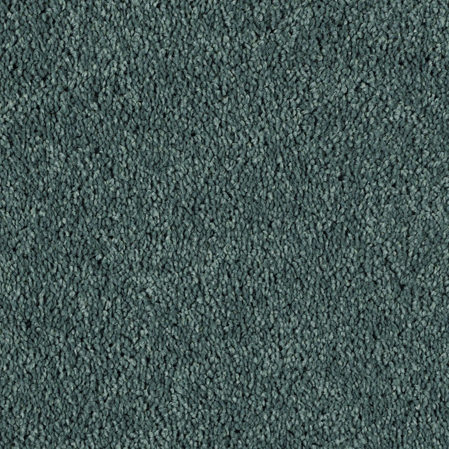 STAINMASTER Soft and Cozy III - S  Essentials Timeless Teal Plush Carpet Sample