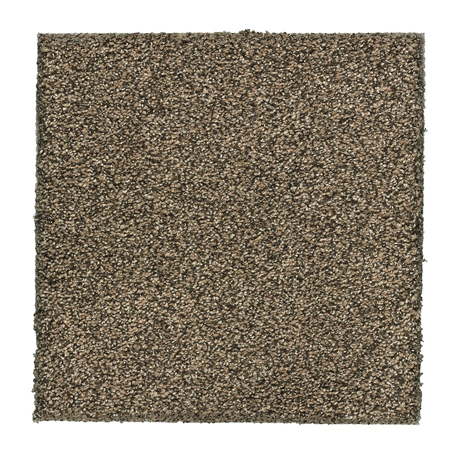STAINMASTER Essentials Stone Peak I Gold Topaz Plush Carpet Sample