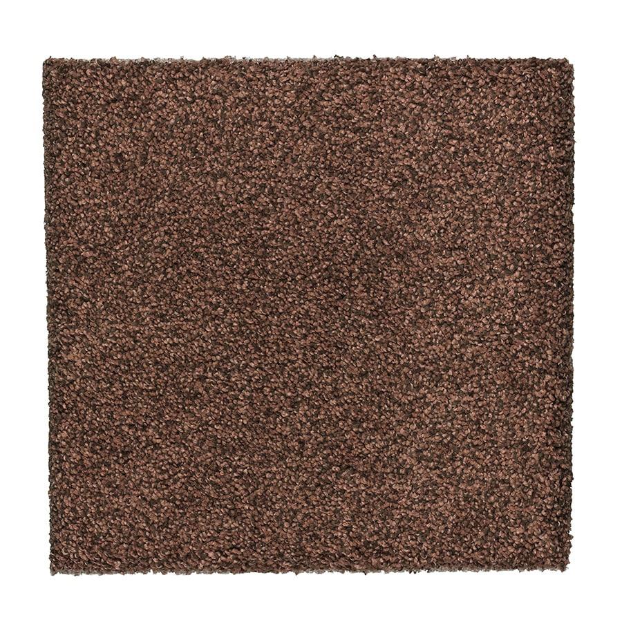 STAINMASTER Essentials Stone Peak I Georgia Clay Plush Carpet Sample