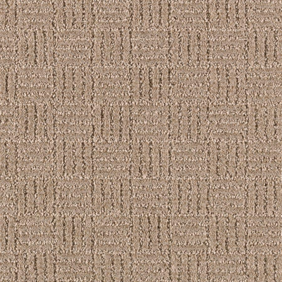 STAINMASTER Stylesboro Essentials Light Musk Cut and Loop Carpet Sample