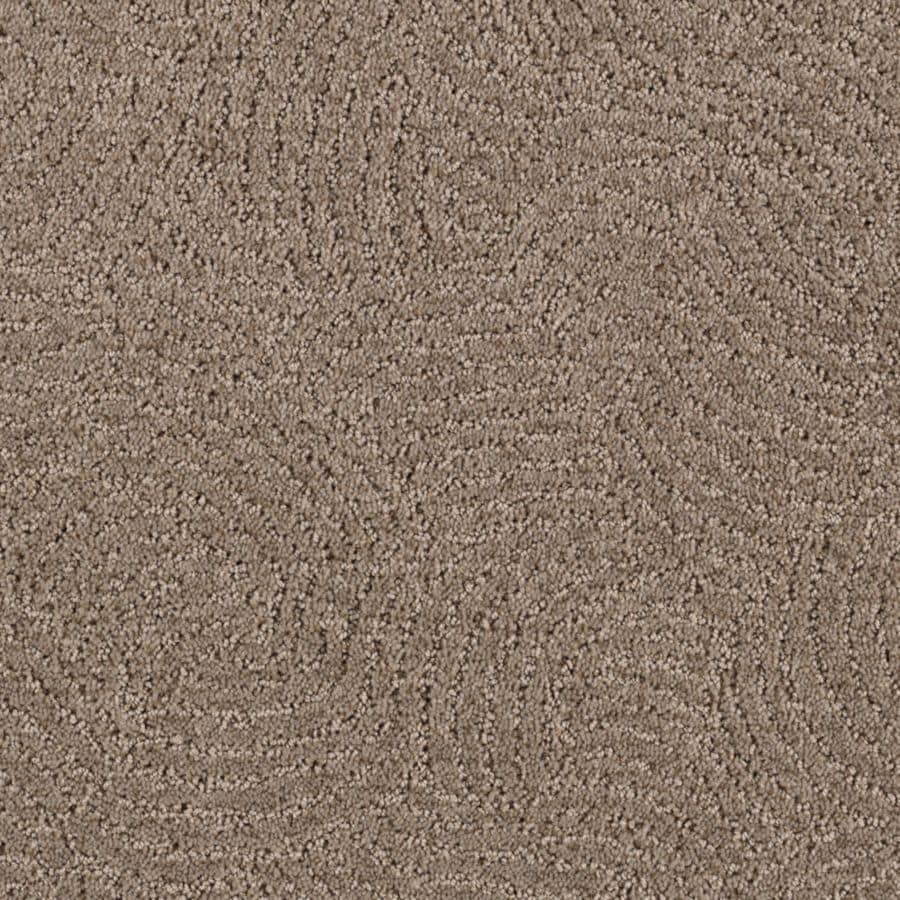 STAINMASTER Fashionboro Essentials Grey Flannel Cut and Loop Carpet Sample