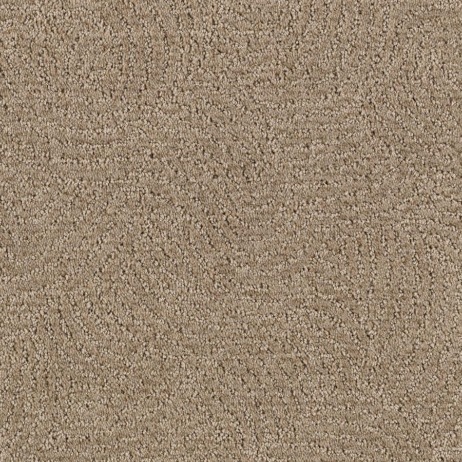 STAINMASTER Fashionboro Essentials Taupe Mist Cut and Loop Carpet Sample