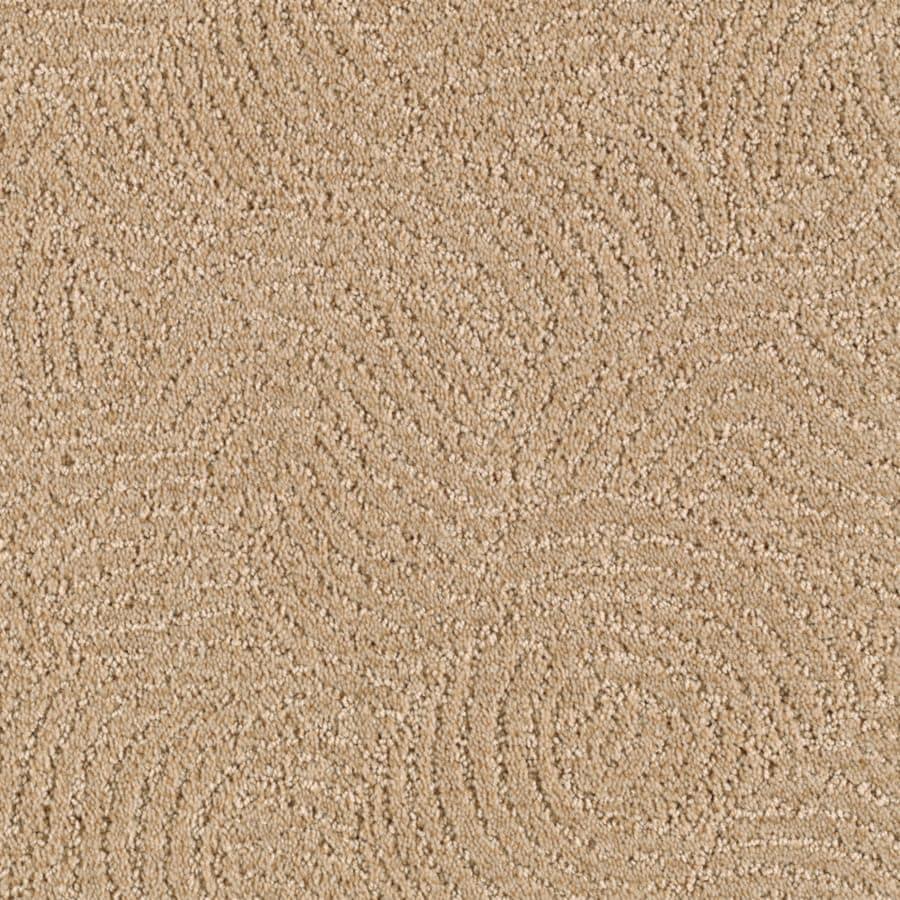 STAINMASTER Fashionboro Essentials Mesa Tan Cut and Loop Carpet Sample