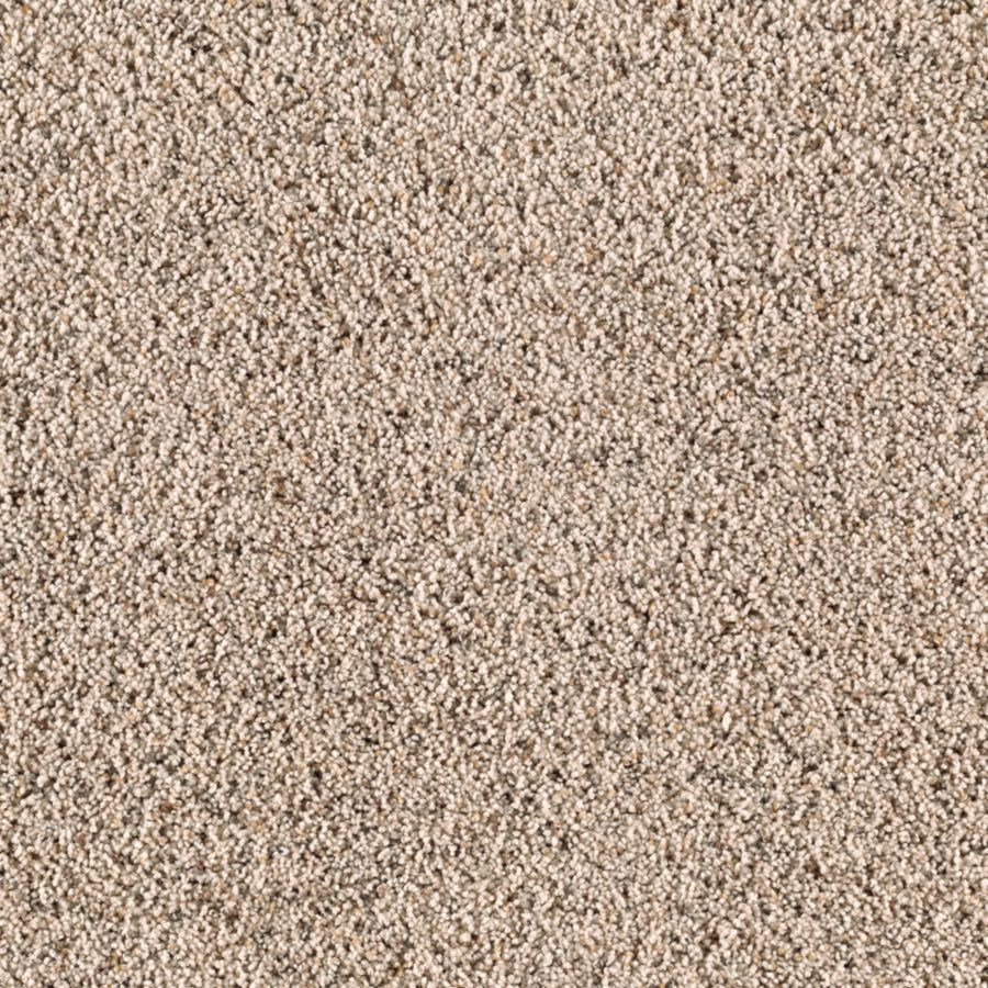 STAINMASTER Renewed Style II Essentials Shore Beige Frieze Carpet Sample