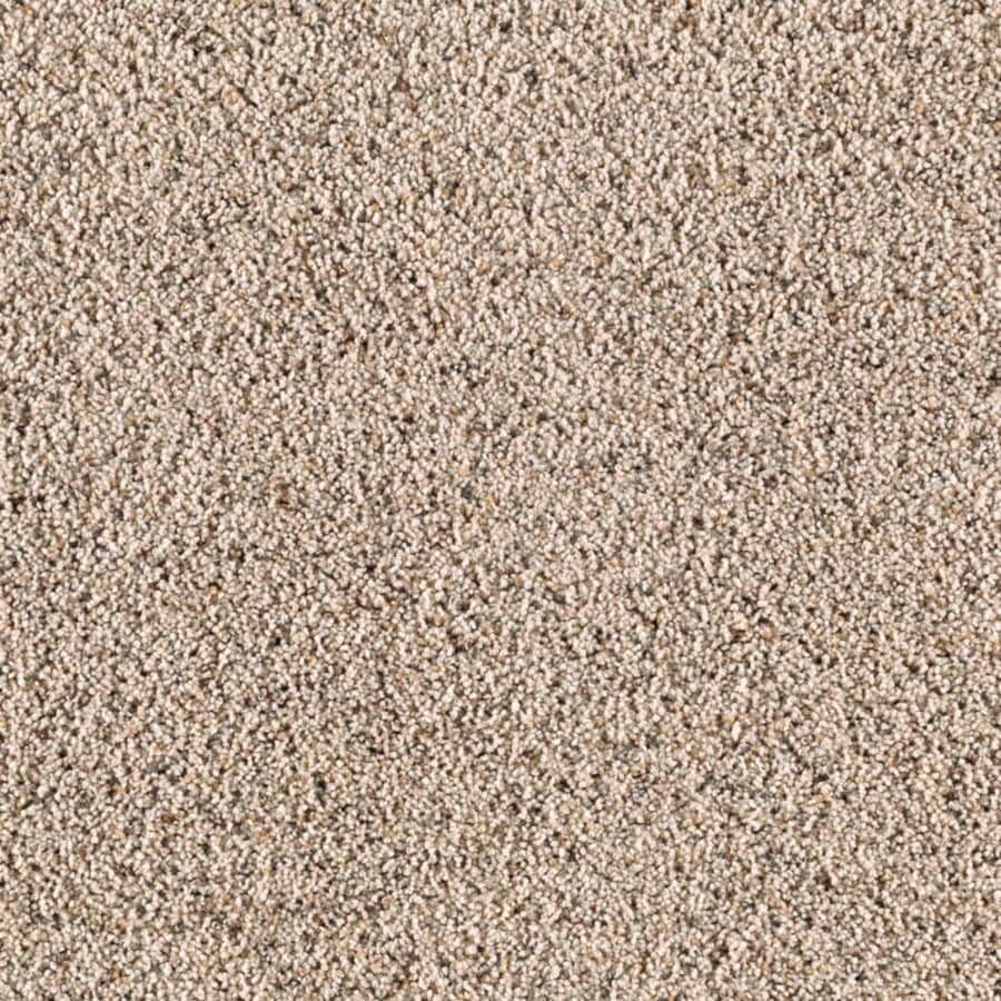 STAINMASTER Essentials Renewed Style II Shore Beige Shag/Frieze Carpet Sample