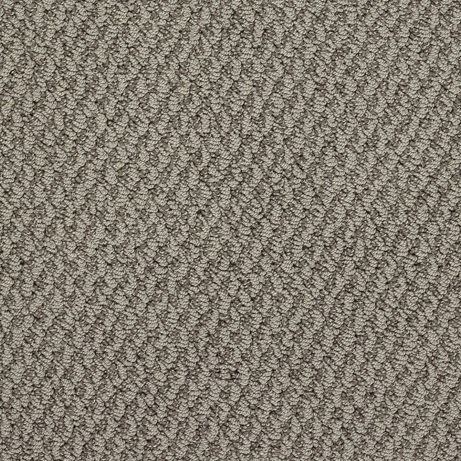 STAINMASTER Oracle Active Family Times Square Berber Carpet Sample