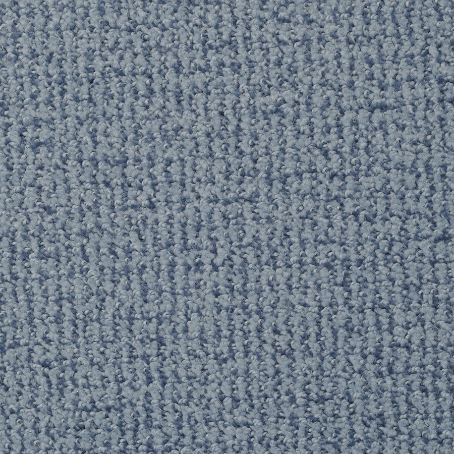 STAINMASTER Morning Jewel Active Family Pacific Sky Cut and Loop Carpet Sample