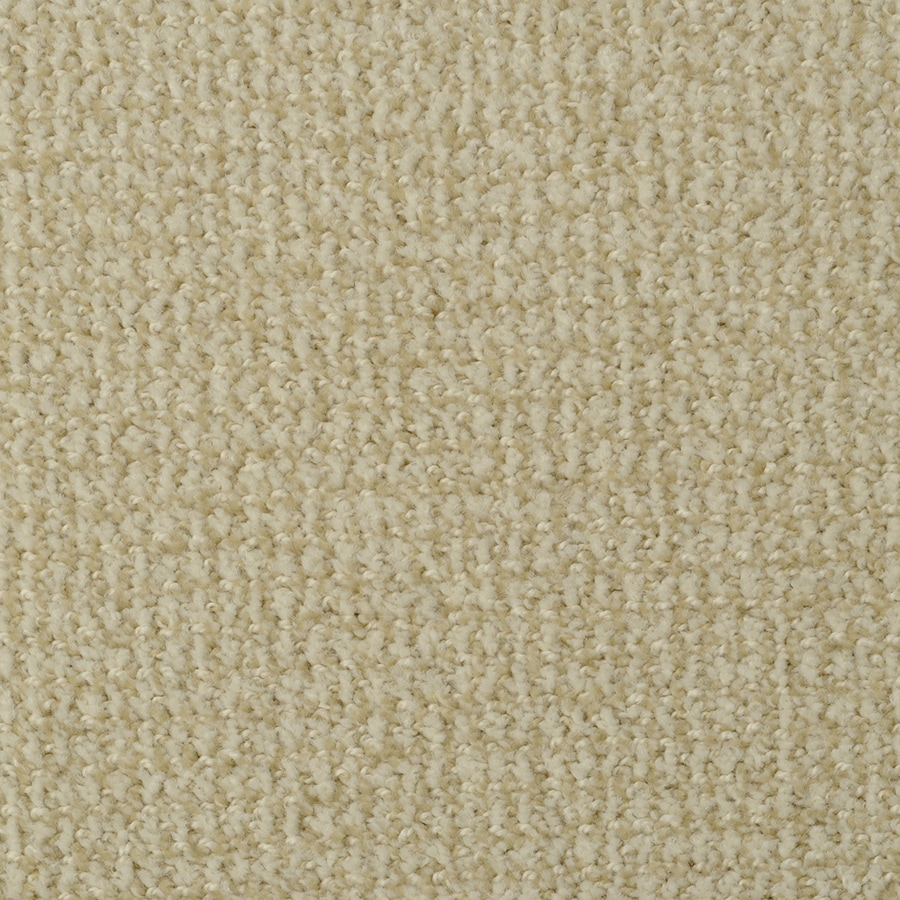 STAINMASTER Morning Jewel Active Family Vanilla Beige Cut and Loop Carpet Sample