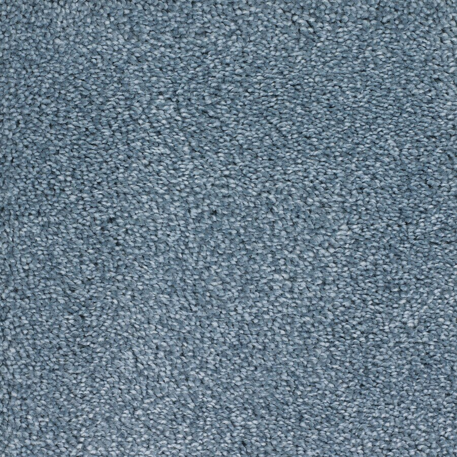 STAINMASTER TruSoft Shafer Valley Blue Plush Carpet Sample