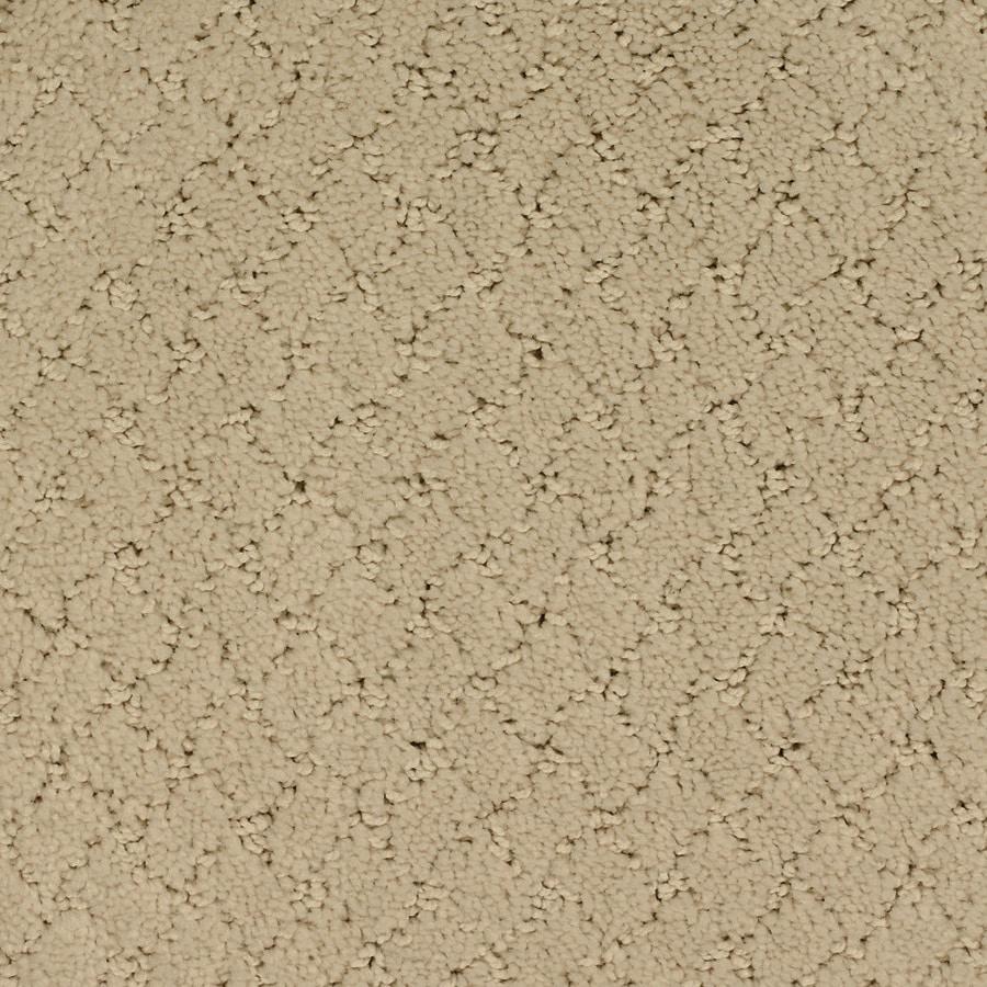 STAINMASTER TruSoft Galesburg Cream/Beige/Almond Berber/Loop Carpet Sample