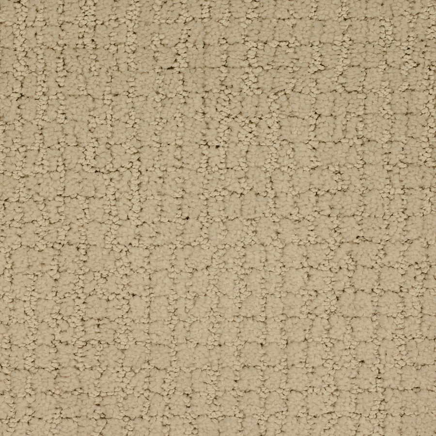 STAINMASTER Perpetual TruSoft Cream/Beige/Almond Cut and Loop Carpet Sample
