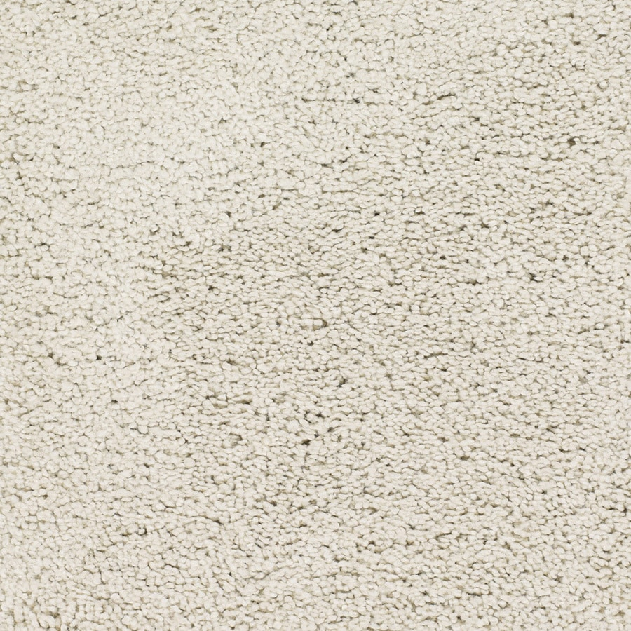 STAINMASTER Chimney Rock TruSoft Cream/Beige/Almond Plush Carpet Sample