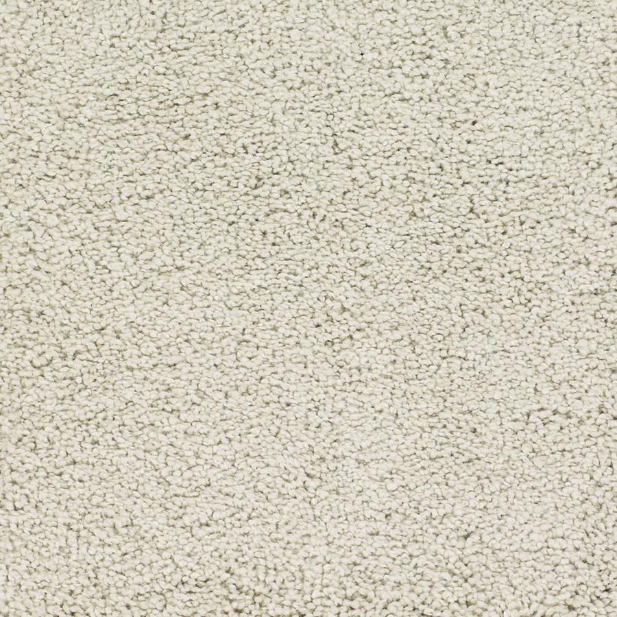 STAINMASTER TruSoft Chimney Rock Cream/Beige/Almond Plush Carpet Sample