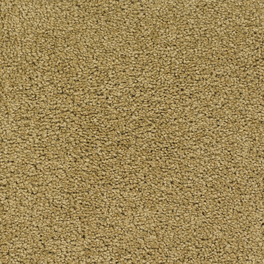 STAINMASTER Chimney Rock TruSoft Yellow/Gold Plush Carpet Sample