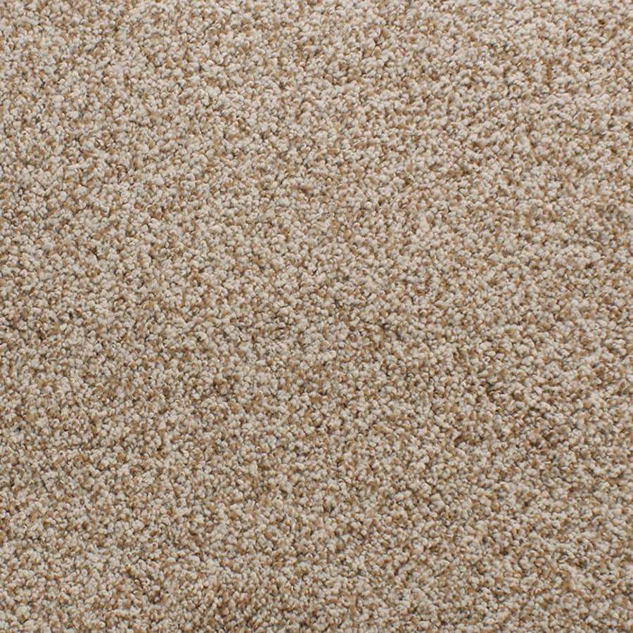 STAINMASTER TruSoft Luminosity Cream/Beige/Almond Plush Carpet Sample