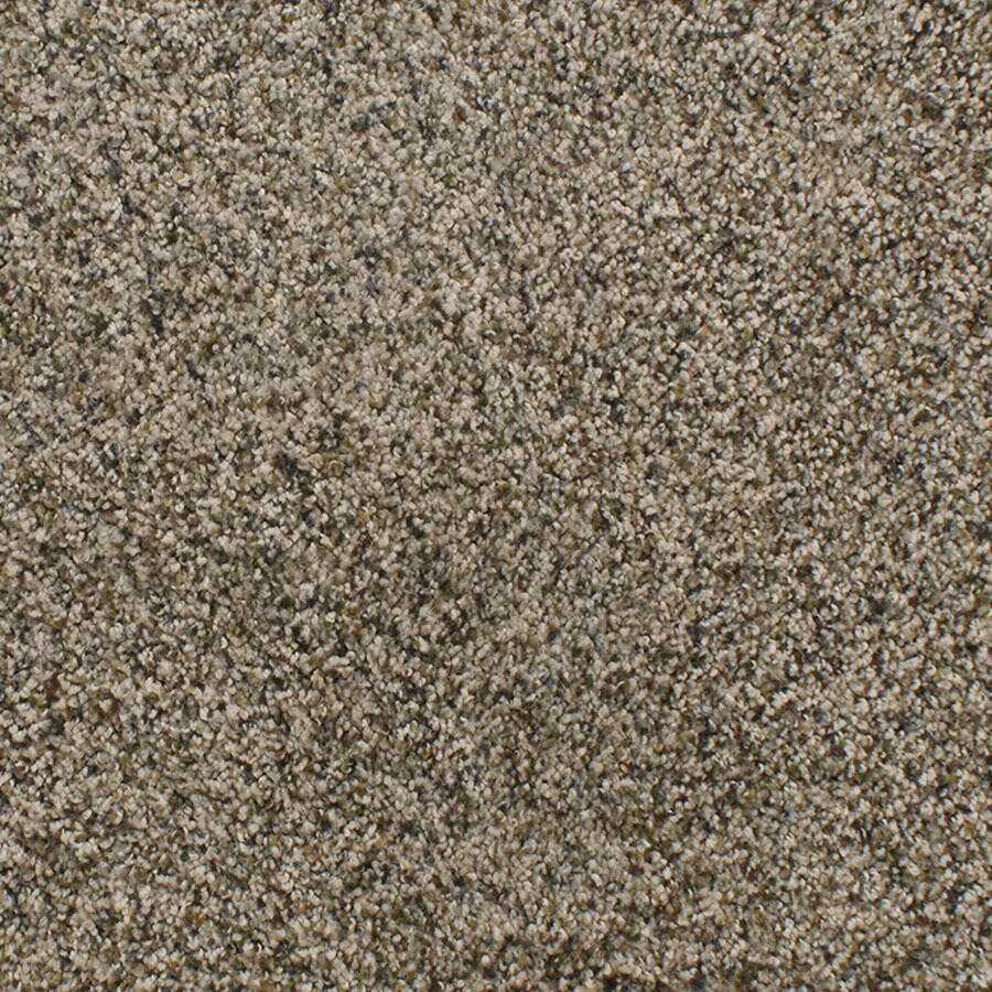 STAINMASTER Luminosity TruSoft Cream/Beige/Almond Plush Carpet Sample