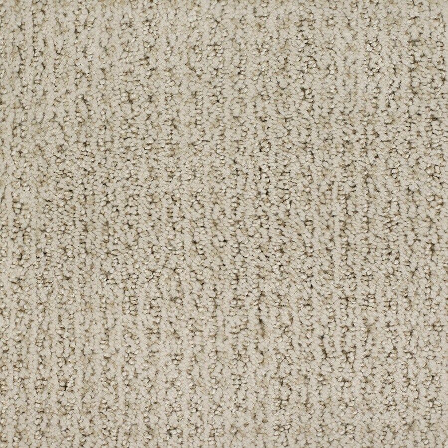 STAINMASTER Salena TruSoft Cream/Beige/Almond Cut and Loop Carpet Sample