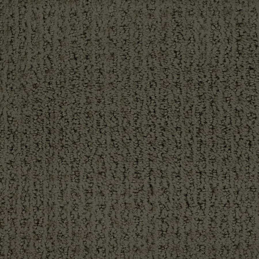 STAINMASTER TruSoft Salena Brown/Tan Berber/Loop Carpet Sample
