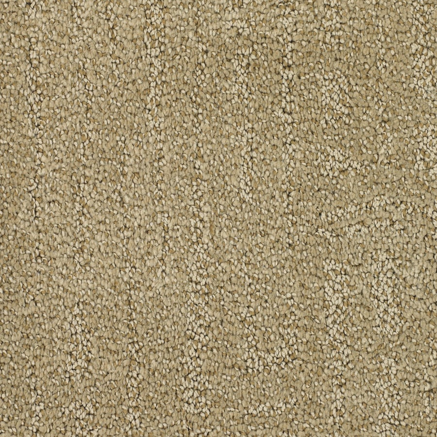 STAINMASTER Regatta Trusoft Yellow/Gold Cut and Loop Carpet Sample