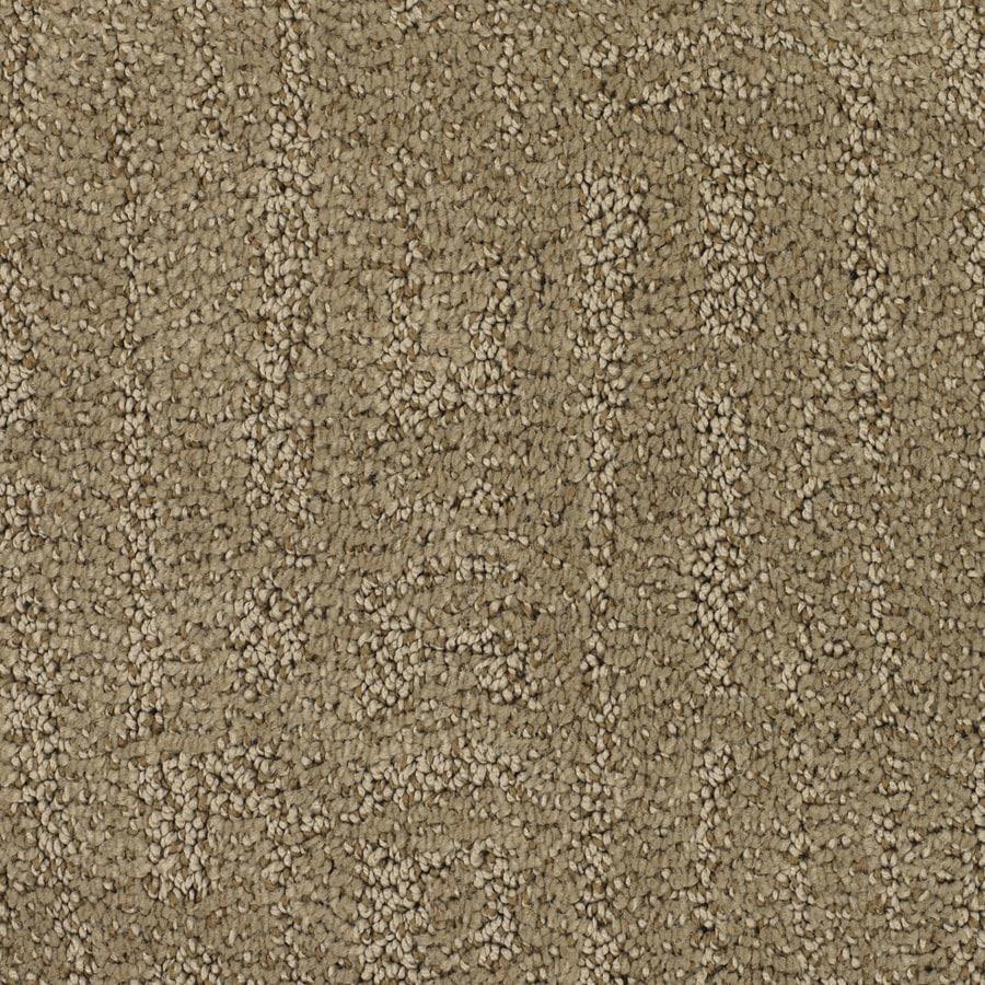 STAINMASTER Regatta Trusoft Brown/Tan Cut and Loop Carpet Sample