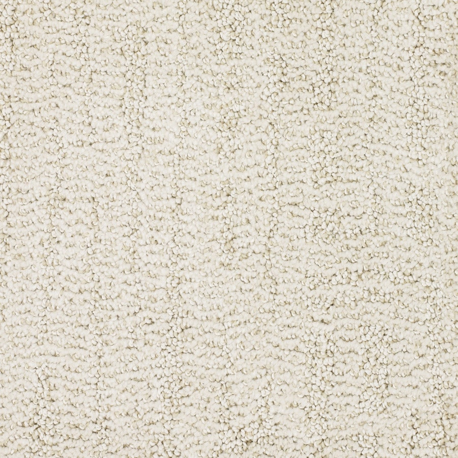 STAINMASTER Regatta Trusoft Cream/Beige/Almond Cut and Loop Carpet Sample