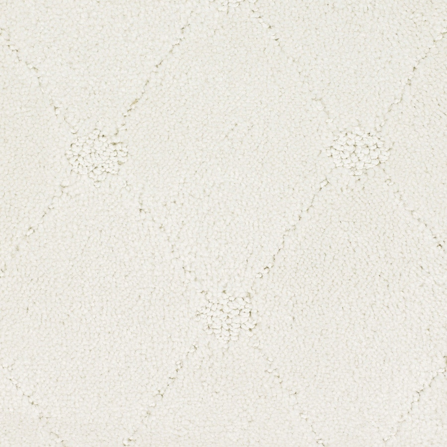 STAINMASTER Columbia Valley Trusoft Cream/Beige/Almond Cut and Loop Carpet Sample