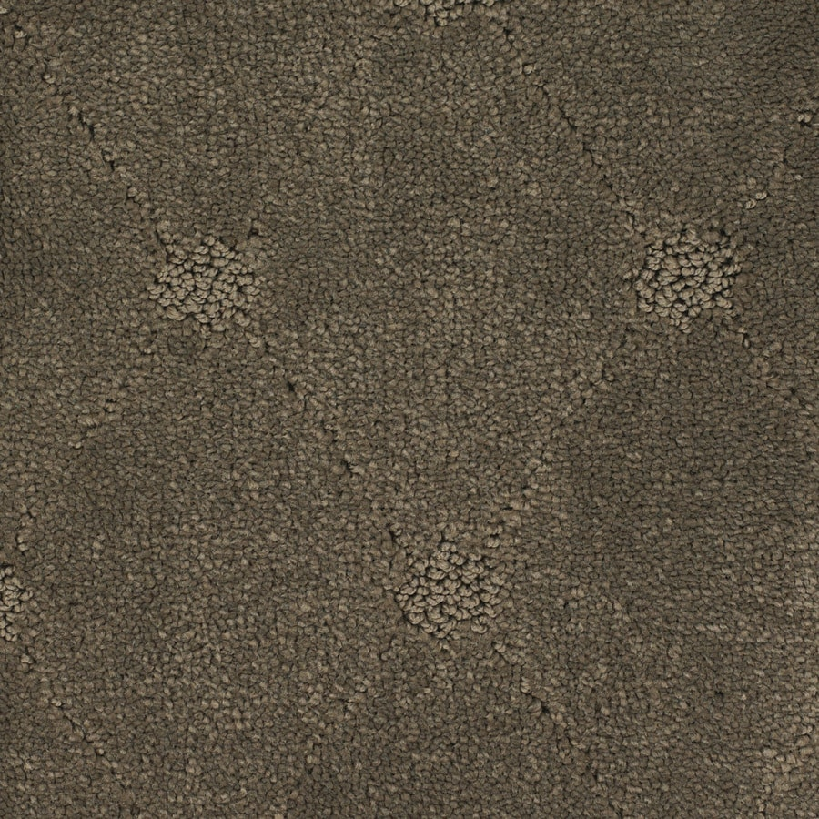 STAINMASTER Columbia Valley TruSoft Brown/Tan Cut and Loop Carpet Sample