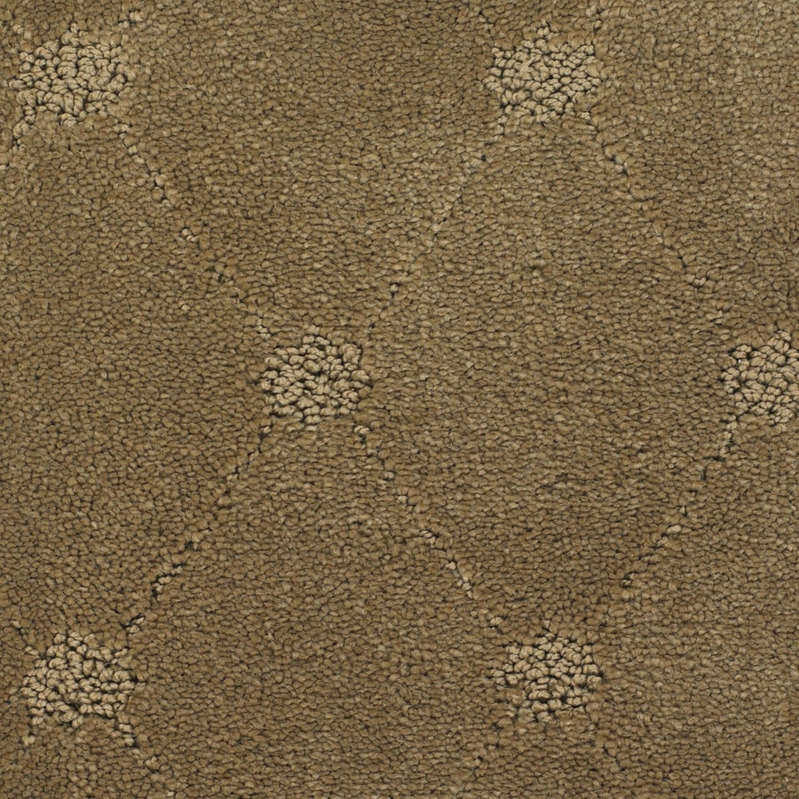 STAINMASTER TruSoft Columbia Valley Brown/Tan Berber/Loop Carpet Sample