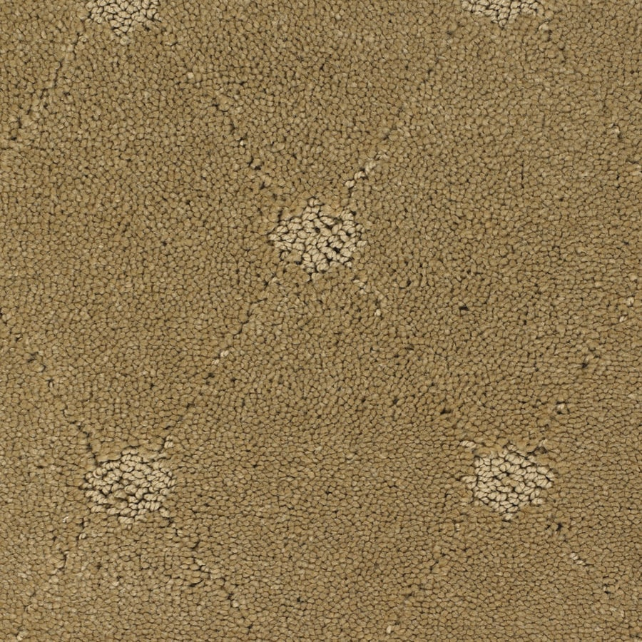 STAINMASTER Columbia Valley TruSoft Yellow/Gold Cut and Loop Carpet Sample