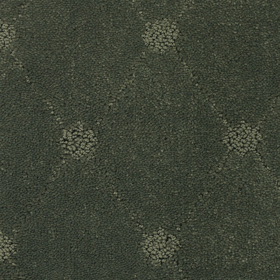 STAINMASTER Columbia Valley Trusoft Green Cut and Loop Carpet Sample