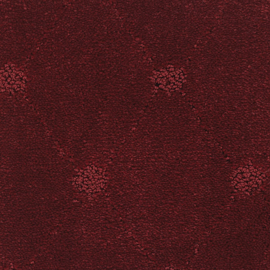 STAINMASTER Columbia Valley Trusoft Red/Pink Cut and Loop Carpet Sample